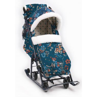 """Winter 2-in-1 baby stroller with easy-to-change wheels and sledges """"Nika to Children ND7-5"""" (ND7-5)"""